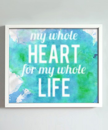 Turquoise 'Whole Heart' Print