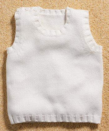 White Sweater Vest - Toddler