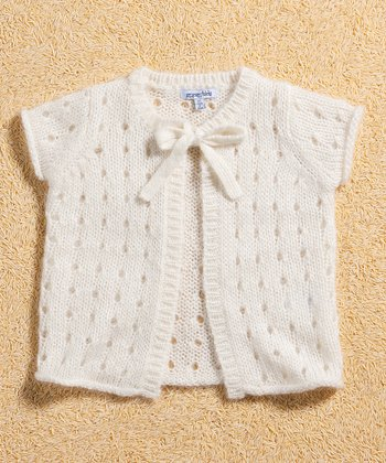 Cream Mohair-Blend Cardigan - Infant & Toddler