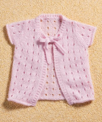 Pink Mohair-Blend Cardigan - Infant & Toddler