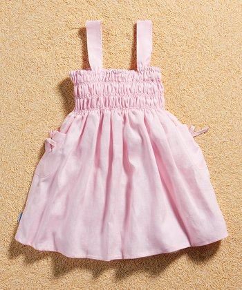 Pink Linen Smocked Dress - Infant & Toddler