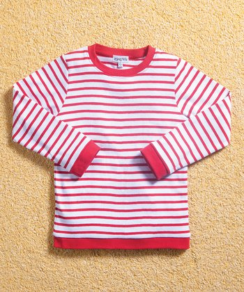 Red & White Stripe Tee - Infant, Toddler & Boys