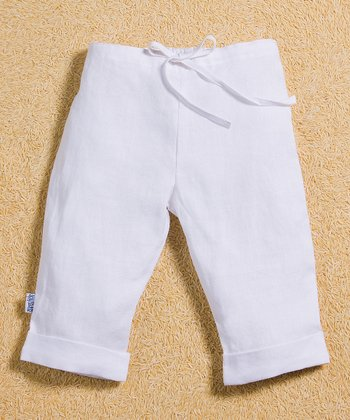 White Linen Drawstring Pants - Infant, Toddler & Boys