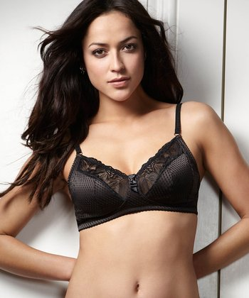 Intuition Black Wireless Bra - Women & Plus