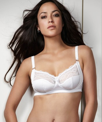 Intuition White Wireless Bra - Women & Plus