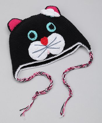 Black Kitty Earflap Hat