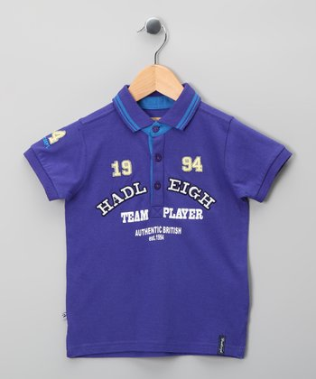 Purple 'Team Player' Polo - Infant