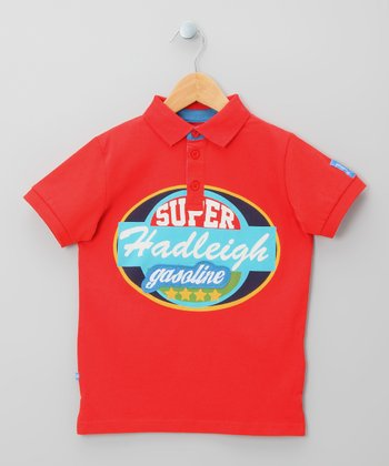 Red 'Super' Polo - Infant