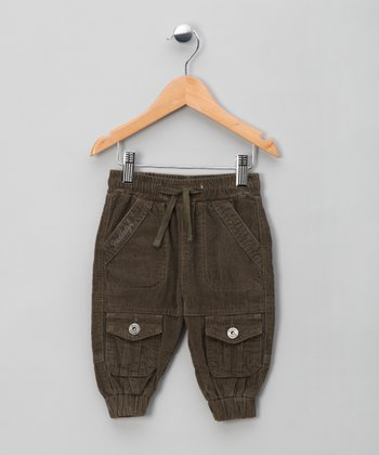 Army Green Corduroy Pants - Infant & Boys