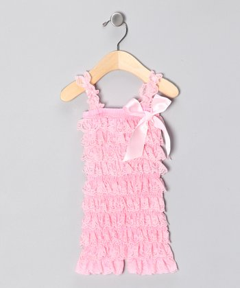 Light Pink Lace Ruffle Romper - Infant & Toddler