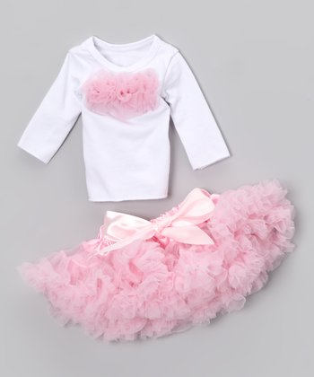 Light Pink Pettiskirt Doll Outfit