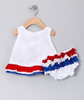 Patriotic Swing Back Dress & Diaper Cover - Infant & Toddler