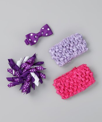 Purple & Pink Bring Home Baby Headband Set
