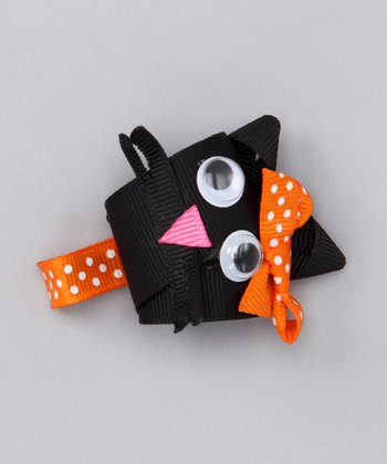 Black Happy Cat Clip