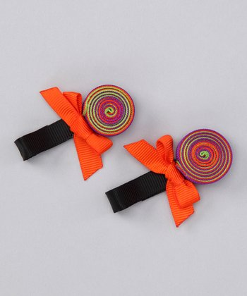 Orange Lollipop Clip Set