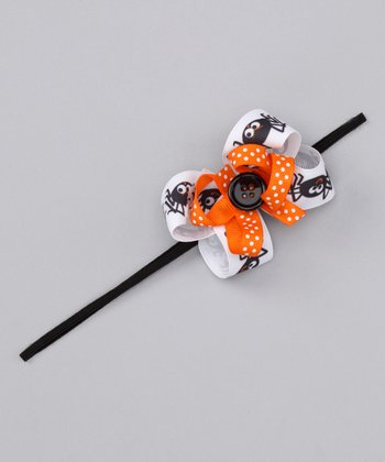 Orange Smiling Spider Headband