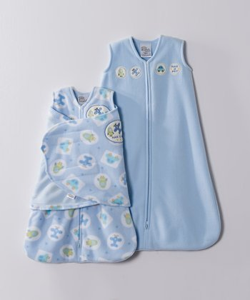 Blue Plane & Car Microfleece SleepSack & Swaddle