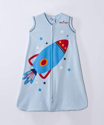 Light Blue Rocket HALO SleepSack