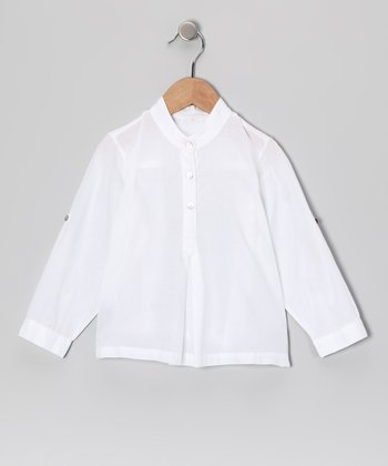 White Leela Top - Infant, Toddler & Girls