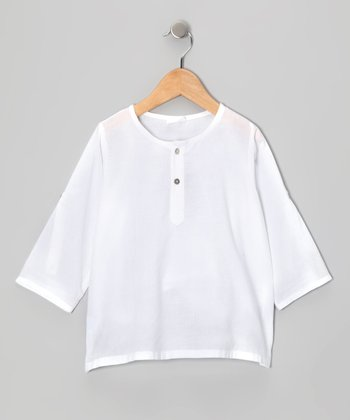 White Classic Tunic - Infant, Toddler & Girls