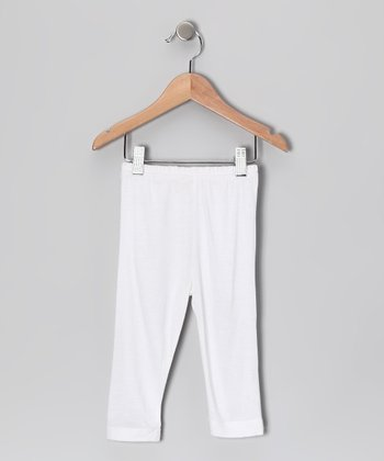 White Capri Pants - Toddler & Girls