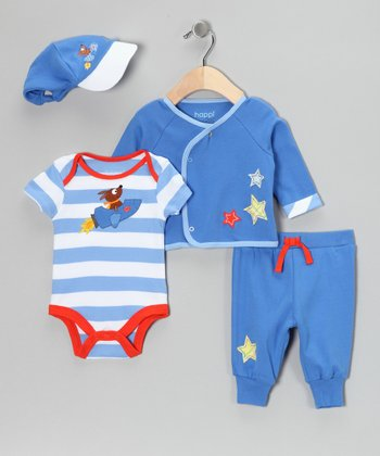 Blue Rocket Dog Wrap Top Set