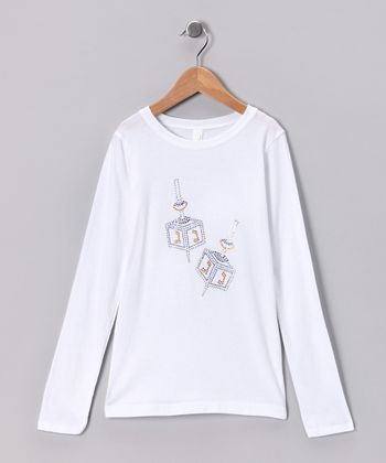White Dreidel Tee - Toddler & Girls