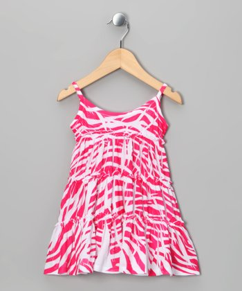 Pink Zebra Babydoll Dress - Toddler & Girls