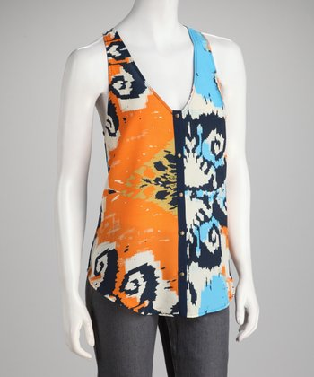 Harper Indigo & Orange Highland Tank
