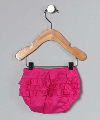 Hot Pink Ruffle Diaper Cover - Infant