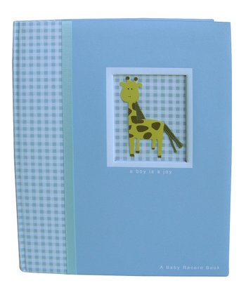 Blue Giraffe Memory Book