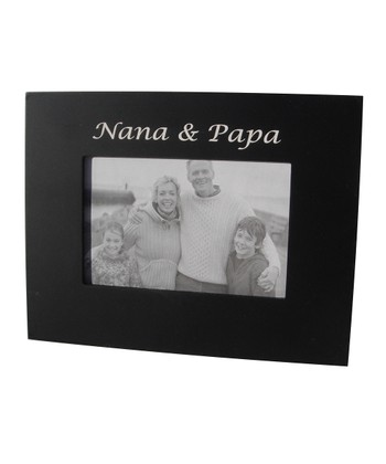 Havoc Gifts Black 'Nana & Papa' Frame
