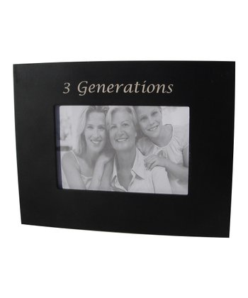 Black '3 Generations' Frame