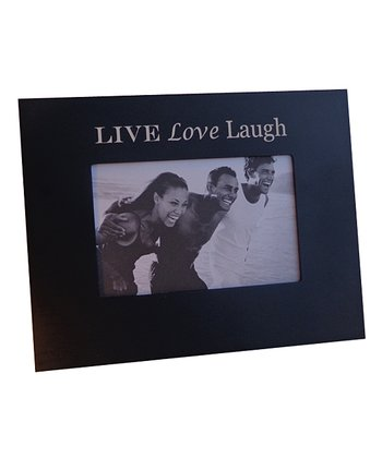 Black 'Live Love Laugh' 4'' x 6'' Frame