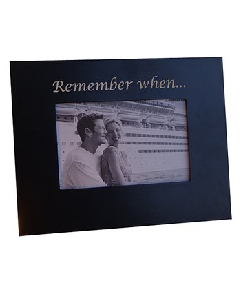 Black 'Remember When' 4'' x 6'' Frame