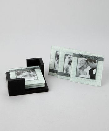 Wedding Photo Coaster Set
