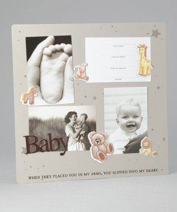 Cream 'Baby' Magnetic Collage Photo Board