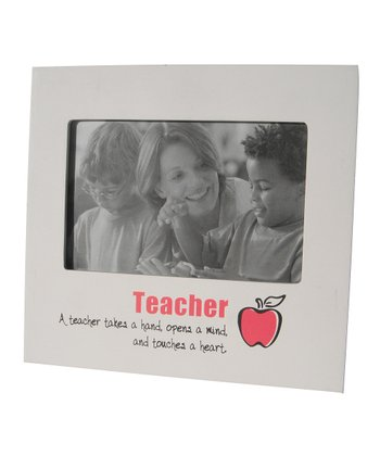 White 'Teacher' Icon Frame