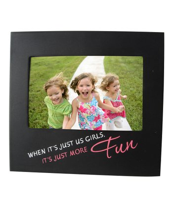Black 'The Girls' Quote Frame