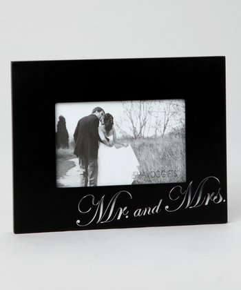 Foil-Stamped 'Mr. and Mrs.' Photo Frame