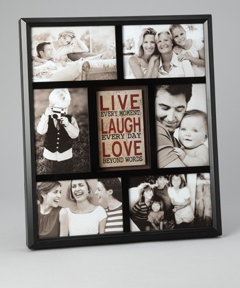 Black 'Live, Laugh, Love' Collage Frame