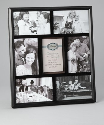 Black 'Family' Rhinestone Collage Frame