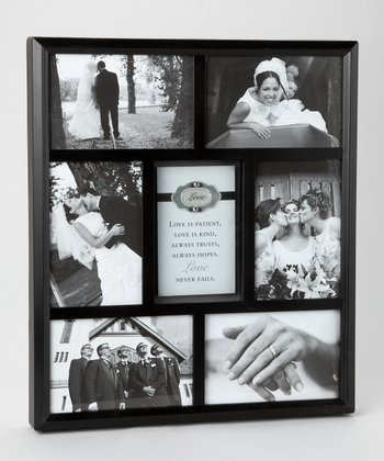 Black 'Wedding' Rhinestone Collage 4'' x 6'' Frame