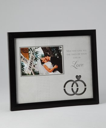 Black & Gray 'Love' 4'' x 6'' Frame