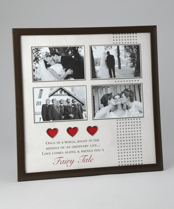 Cream & Red Wedding Collage 4'' x 6'' Frame