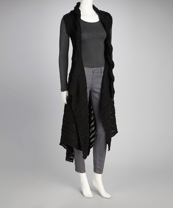Hazel Black Open Duster