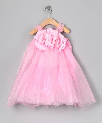 Pink Flower Tulle Dress - Infant, Toddler & Girls