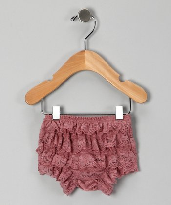 Mauve Lace Ruffle Bloomers - Infant & Toddler