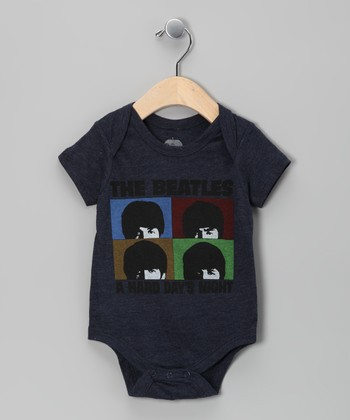Navy Beatles 'Hard Day's Night' Bodysuit - Infant