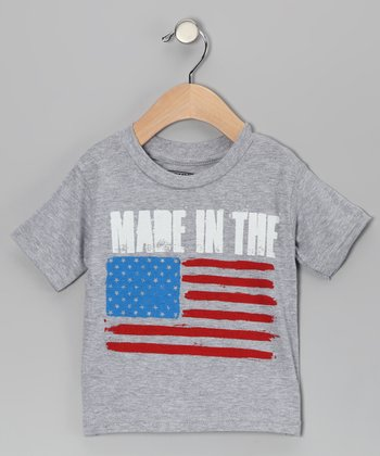 Gray 'Made' Tee - Infant, Toddler & Kids